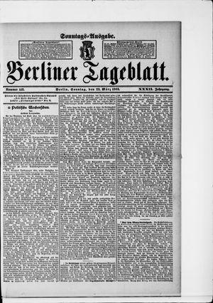 Berliner Tageblatt und Handels-Zeitung vom 22.03.1903