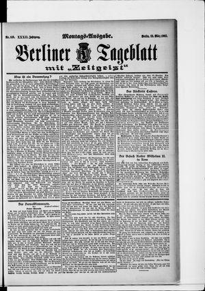 Berliner Tageblatt und Handels-Zeitung vom 23.03.1903