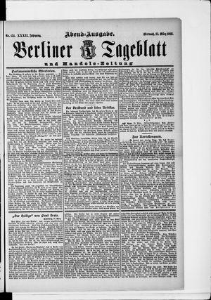 Berliner Tageblatt und Handels-Zeitung vom 25.03.1903