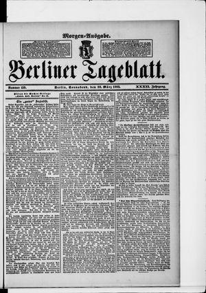 Berliner Tageblatt und Handels-Zeitung vom 28.03.1903