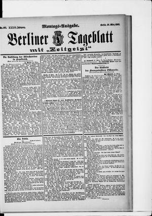 Berliner Tageblatt und Handels-Zeitung vom 30.03.1903