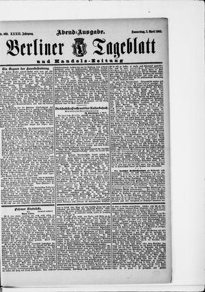 Berliner Tageblatt und Handels-Zeitung vom 02.04.1903