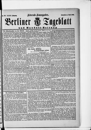 Berliner Tageblatt und Handels-Zeitung vom 04.04.1903
