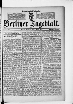 Berliner Tageblatt und Handels-Zeitung vom 05.04.1903