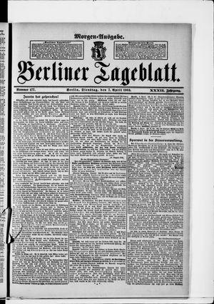 Berliner Tageblatt und Handels-Zeitung vom 07.04.1903