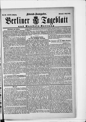 Berliner Tageblatt und Handels-Zeitung vom 08.04.1903