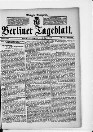Berliner Tageblatt und Handels-Zeitung vom 09.04.1903