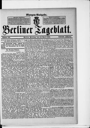 Berliner Tageblatt und Handels-Zeitung vom 10.04.1903