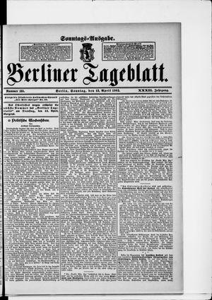 Berliner Tageblatt und Handels-Zeitung vom 12.04.1903