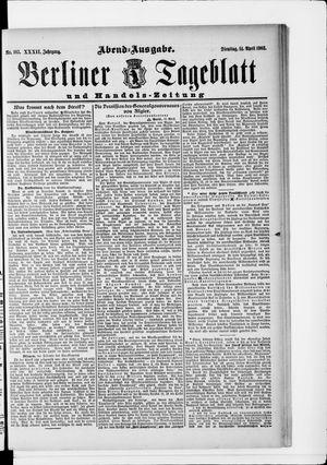 Berliner Tageblatt und Handels-Zeitung vom 14.04.1903