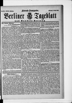 Berliner Tageblatt und Handels-Zeitung vom 15.04.1903