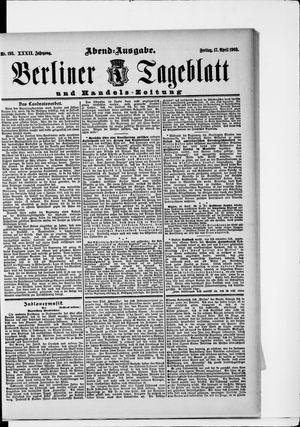 Berliner Tageblatt und Handels-Zeitung vom 17.04.1903