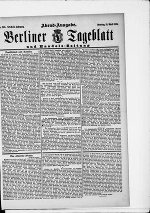Berliner Tageblatt und Handels-Zeitung vom 21.04.1903