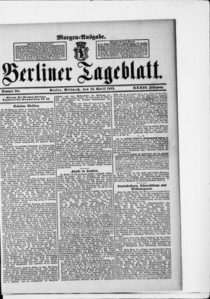 Berliner Tageblatt und Handels-Zeitung vom 22.04.1903