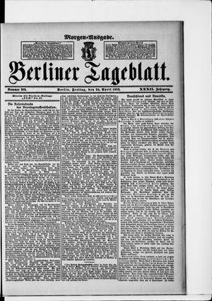 Berliner Tageblatt und Handels-Zeitung vom 24.04.1903