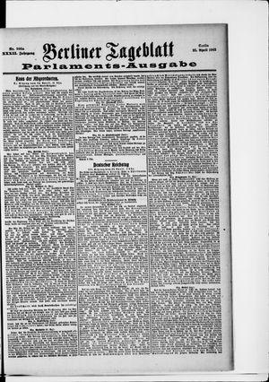 Berliner Tageblatt und Handels-Zeitung vom 25.04.1903
