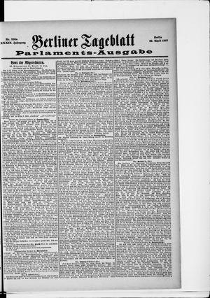 Berliner Tageblatt und Handels-Zeitung vom 26.04.1903