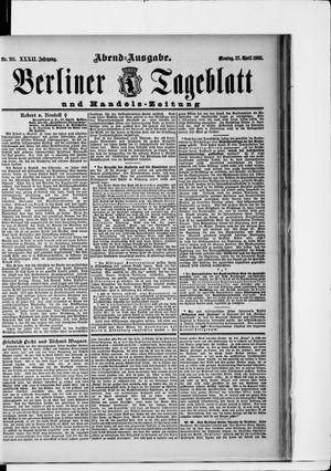 Berliner Tageblatt und Handels-Zeitung vom 27.04.1903