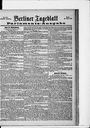 Berliner Tageblatt und Handels-Zeitung vom 28.04.1903