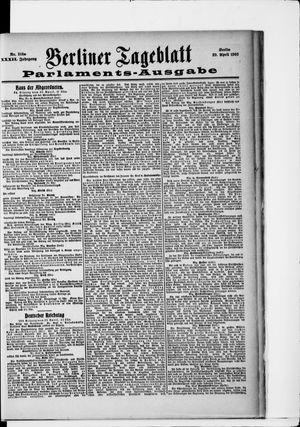 Berliner Tageblatt und Handels-Zeitung vom 29.04.1903
