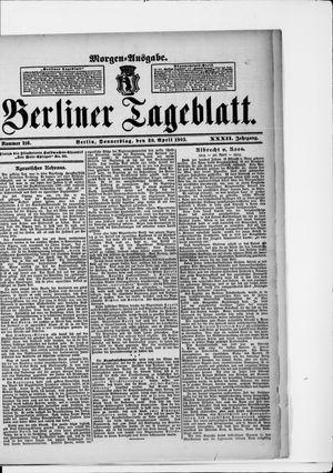 Berliner Tageblatt und Handels-Zeitung vom 30.04.1903