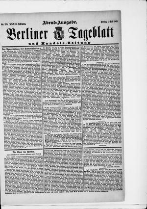 Berliner Tageblatt und Handels-Zeitung vom 01.05.1903