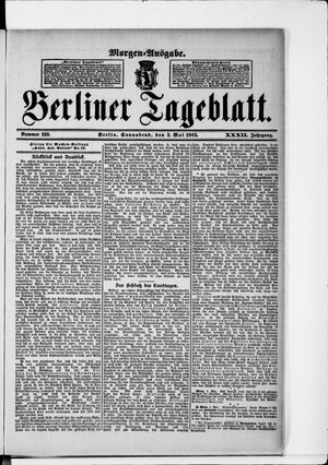 Berliner Tageblatt und Handels-Zeitung vom 02.05.1903