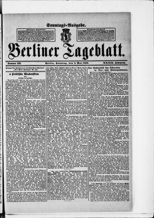 Berliner Tageblatt und Handels-Zeitung vom 03.05.1903
