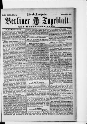Berliner Tageblatt und Handels-Zeitung vom 04.05.1903