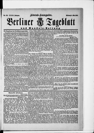 Berliner Tageblatt und Handels-Zeitung vom 06.05.1903