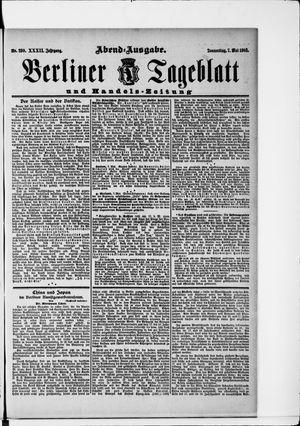 Berliner Tageblatt und Handels-Zeitung vom 07.05.1903