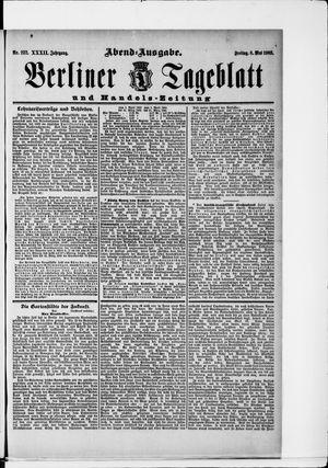 Berliner Tageblatt und Handels-Zeitung vom 08.05.1903