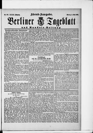 Berliner Tageblatt und Handels-Zeitung vom 11.05.1903