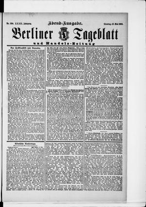 Berliner Tageblatt und Handels-Zeitung vom 12.05.1903