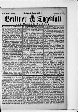 Berliner Tageblatt und Handels-Zeitung vom 13.05.1903