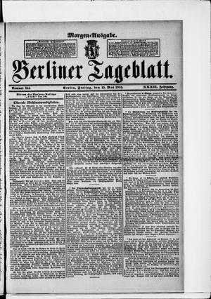 Berliner Tageblatt und Handels-Zeitung vom 15.05.1903