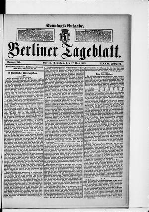Berliner Tageblatt und Handels-Zeitung vom 17.05.1903