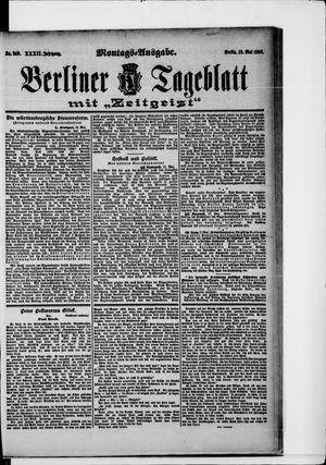 Berliner Tageblatt und Handels-Zeitung vom 18.05.1903