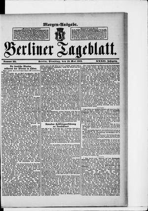 Berliner Tageblatt und Handels-Zeitung vom 19.05.1903