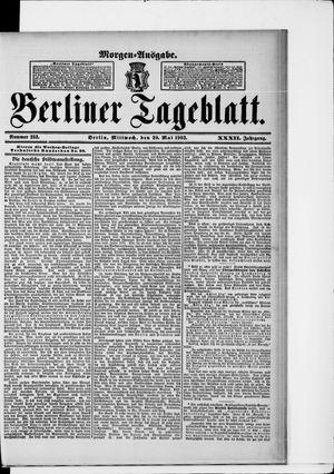 Berliner Tageblatt und Handels-Zeitung vom 20.05.1903
