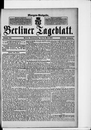 Berliner Tageblatt und Handels-Zeitung vom 21.05.1903