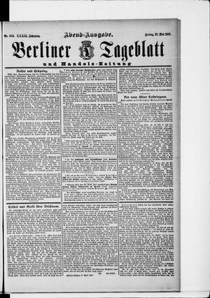 Berliner Tageblatt und Handels-Zeitung vom 22.05.1903