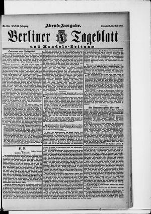 Berliner Tageblatt und Handels-Zeitung vom 23.05.1903