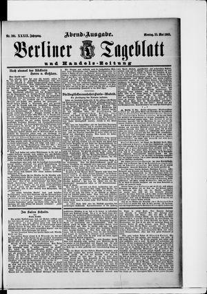 Berliner Tageblatt und Handels-Zeitung vom 25.05.1903