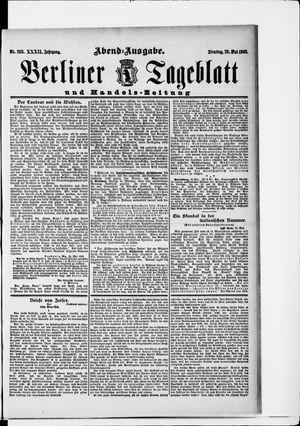 Berliner Tageblatt und Handels-Zeitung vom 26.05.1903