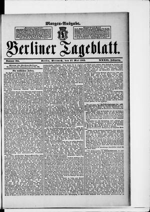 Berliner Tageblatt und Handels-Zeitung vom 27.05.1903