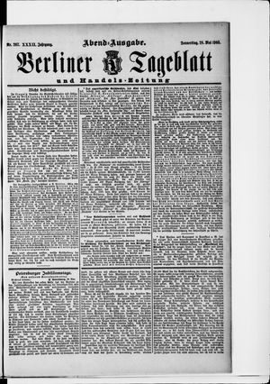 Berliner Tageblatt und Handels-Zeitung on May 28, 1903