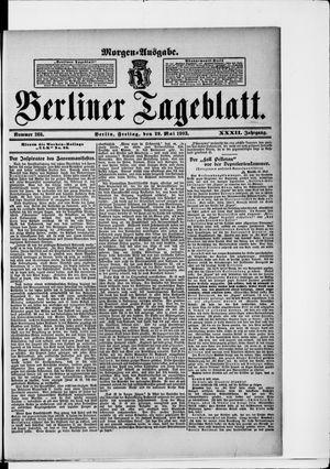 Berliner Tageblatt und Handels-Zeitung on May 29, 1903