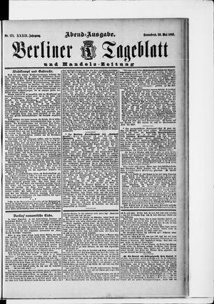 Berliner Tageblatt und Handels-Zeitung on May 30, 1903