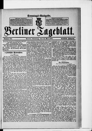 Berliner Tageblatt und Handels-Zeitung vom 31.05.1903
